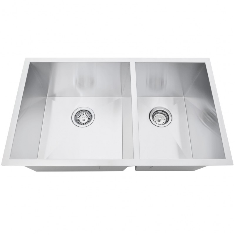 Stainless Steel Double Sink - - Zero Radius - 60/40