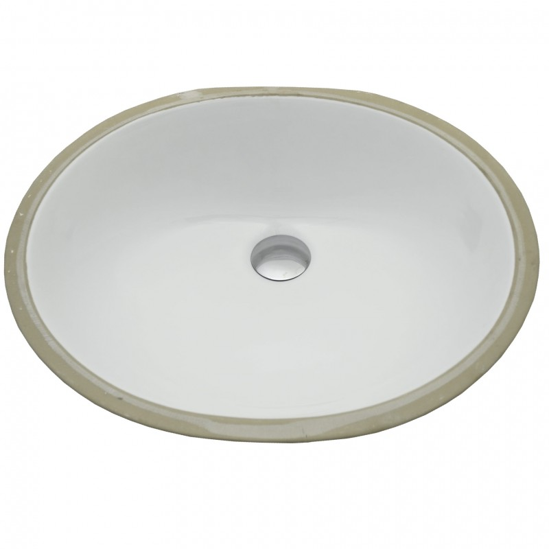 Large Oval Under Mount Sink