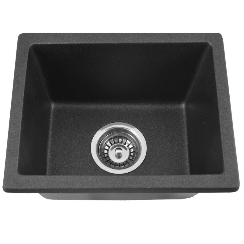 "Under Mount Granite Composite Bar Sink - Black Pearl - 15"" x 17"""