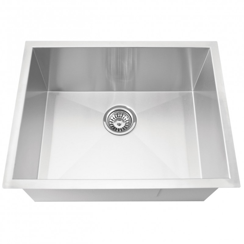 "Stainless Steal (Bar Sink) 23"" x 18"" Zero Radius"