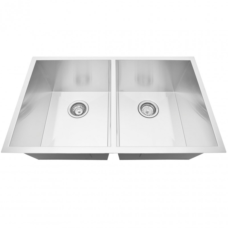 "Stainless Steal Kitchen Sink(50/50) 32"" x 19"" Zero Radius"