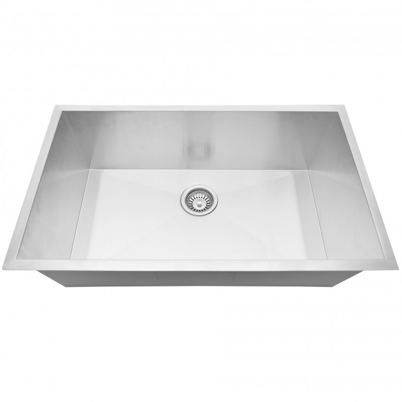 "Stainless Steal (Single Bowl) 31"" x 20"" Zero Radius"