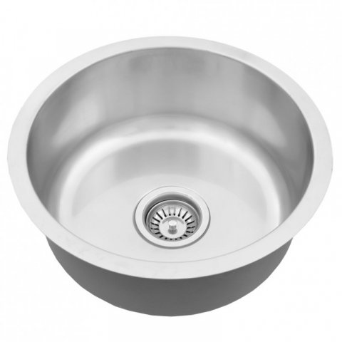 "stainless Steel Round Bar Sink - 16"" RADIUS"