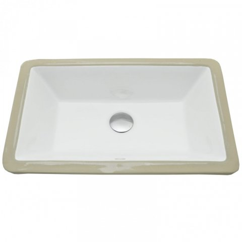 rectangular under mount sink